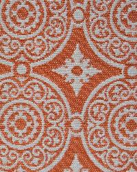 Orange Suzani Fabric  Taza Orange