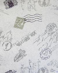 Word Fabrics  Voyage Flax