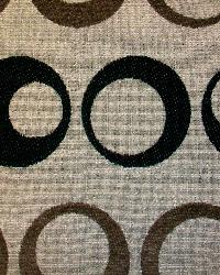 Brown Circles and Swirls Fabric  Wendy Espresso