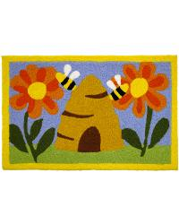 Busy Beehive Indoor Outdoor Rug by