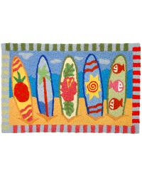 Snazzy Surfboards Indoor Outdoor Rug by