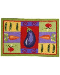 JB-JB047 Bright Veggies Indoor Outdoor Rug by