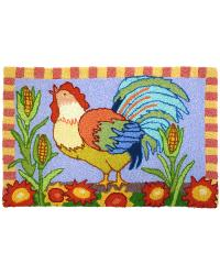 JB-KM001 Country Rooster Indoor Outdoor Rug by