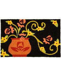 Rose Vase Indoor Outdoor Rug by