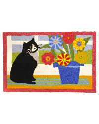 Curious Kitty Indoor Outdoor Rug by