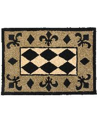 JBY006A Harlequin Black Tan and Beige Indoor Outdoor Rug by