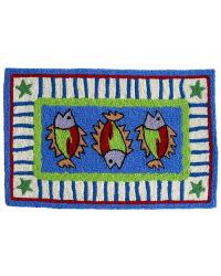 Three Fish Indoor Outdoor Rug by