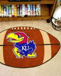 Kansas Jayhawks Football Rug by