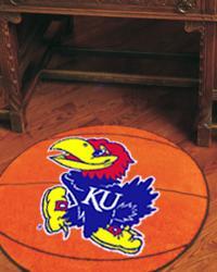 Kansas Jayhawks Basketball Rug by