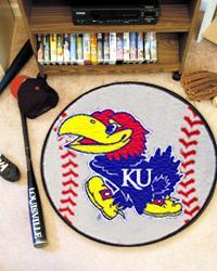 Kansas Jayhawks Baseball Rug by