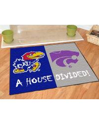 Kansas Jayhawks - Kansas State Wildcats Divided Rug by