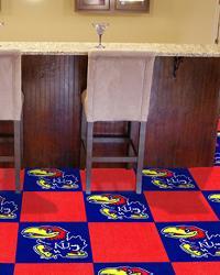 Kansas Jayhawks Carpet Tiles by