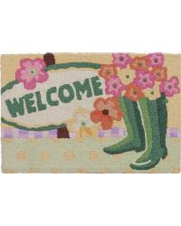 WELCOME GARDEN BOOTS RUG by