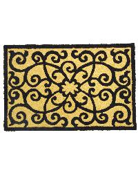 Frontgate Black  Tan Indoor Outdoor Rug by