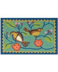 Songbirds in Tree Indoor Outdoor Rug by