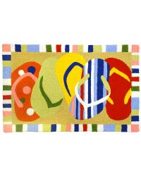 Multi-Colored Sandals Indoor Outdoor Rug by