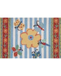GINGHAM GARDEN RUG by
