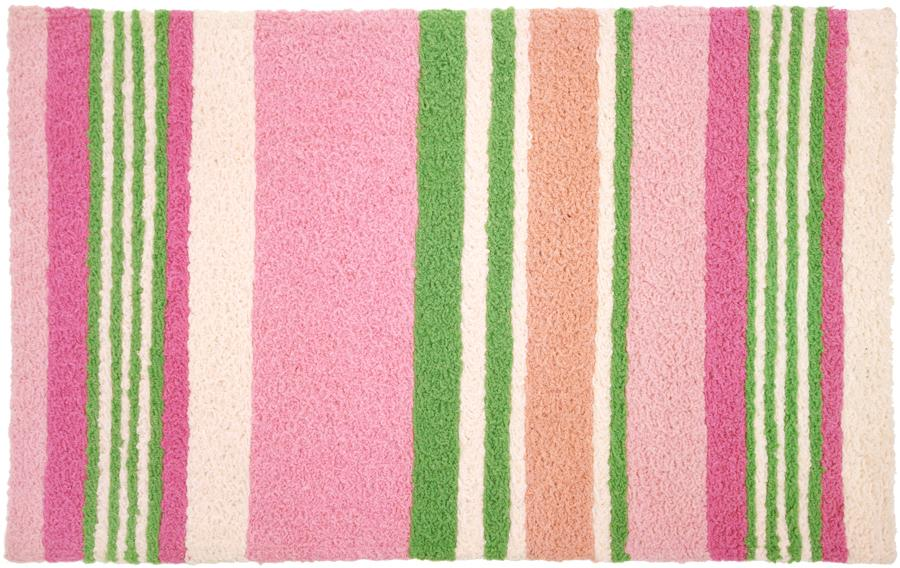 Circles Pink and Green Accent Floor Rug only $39.99