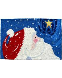 Star Gazing Santa Indoor Outdoor Rug by