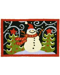 Fanciful Snowman Rug by