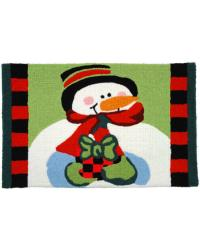 Frosty with Gift Rug by