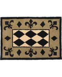 HARLEQUIN - BLACK TAN and BEIGE BIG BEAN RUG by