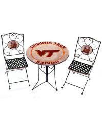 Virginia Tech Hokies Bistro Set by