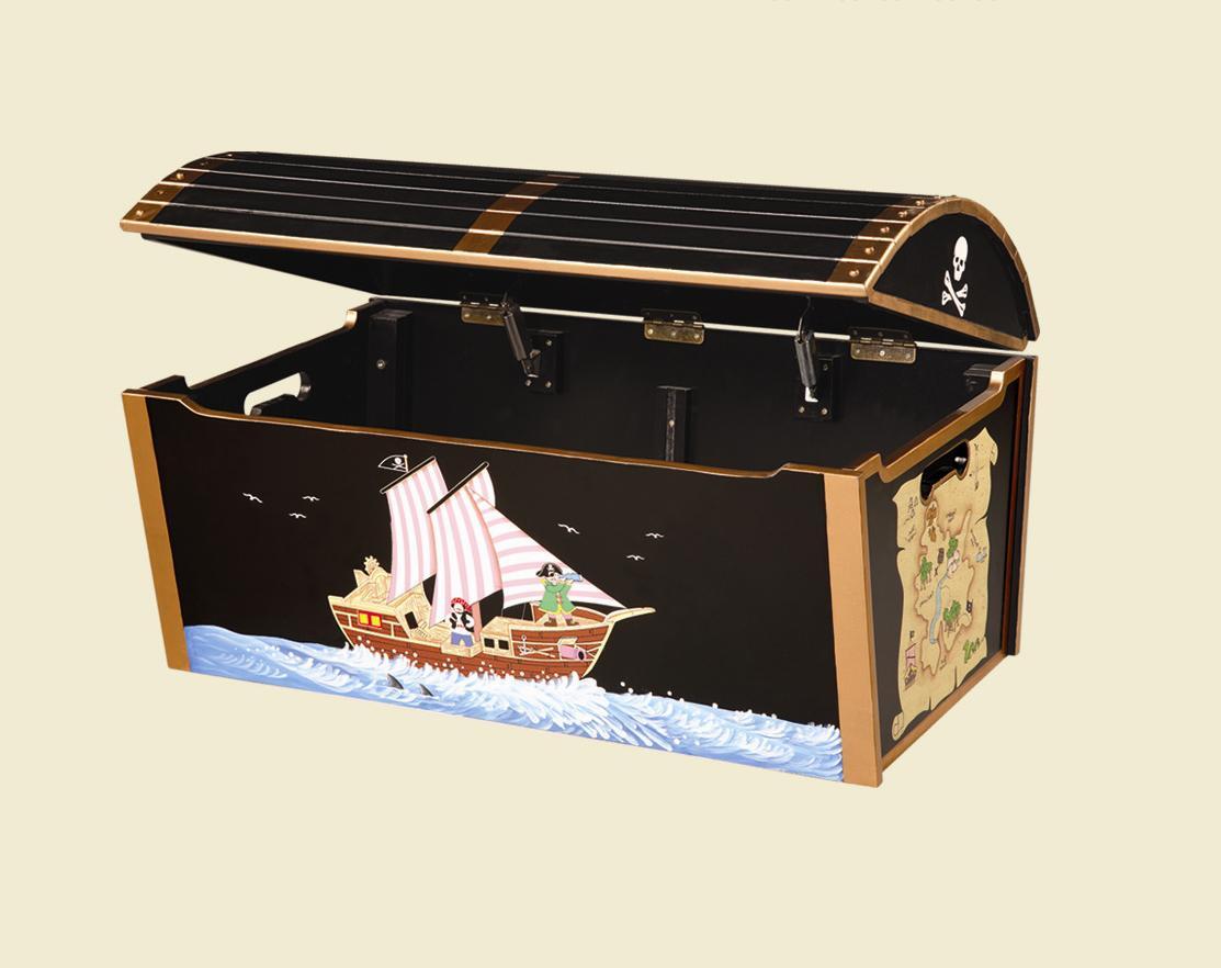 Greatest Pirate Treasure Chest Toy Box - InteriorDecorating UY54