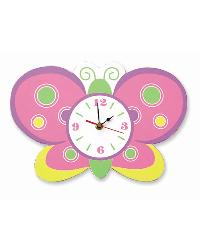Baby Butterfly Wall Clock by