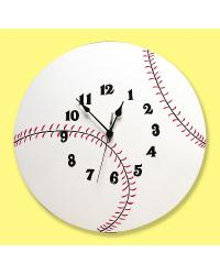 Baseball Wall Clock by