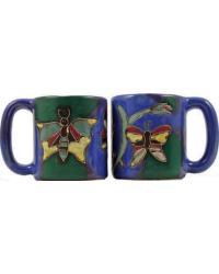 Butterflies Round Stoneware Mug by