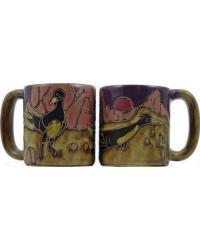 Roadrunner Round Stoneware Mug by