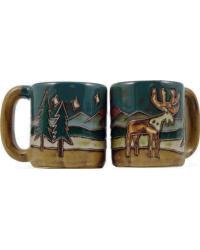 Elk Round Stoneware Mug by