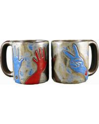 Peace Signs Round Stoneware Mug by