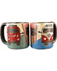 Love Bus Round Stoneware Mug by