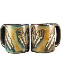 Feathers Round Stoneware Mug by
