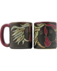 Lovers Round Stoneware Mug by