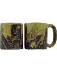Kokopelli Round Stoneware Mug by
