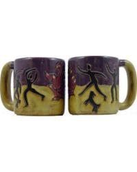 Fire Dancers Round Stoneware Mug by