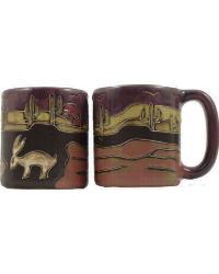 Desert Scene Round Stoneware Mug by