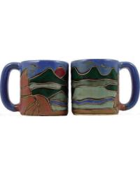 Mountains Round Stoneware Mug by