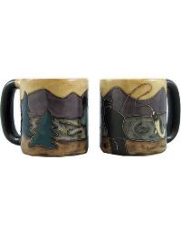 Fisherman Round Stoneware Mug  by