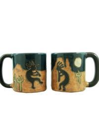 Desert Kokopelli Round Stoneware Mug  by