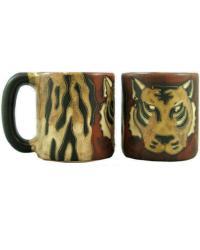 Tiger Round Stoneware Mug  by