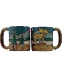 Moose Round Stoneware Mug by