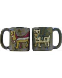 Dogs Round Stoneware Mug by