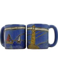 Lighthouse Round Stoneware Mug by
