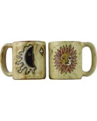 Sun Moon Tan Round Stoneware Mug by