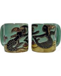 Mermaids Round Stoneware Mug by