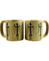 Yei Figures Round Stoneware Mug by